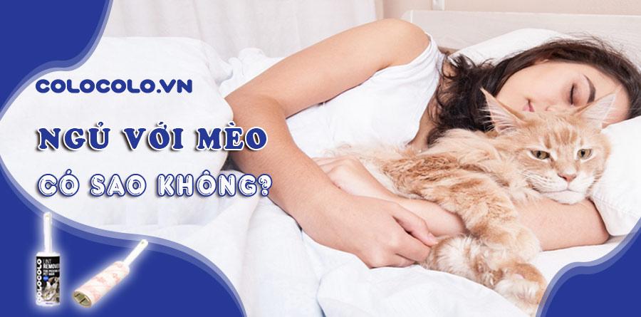 ngủ với mèo có sao không
