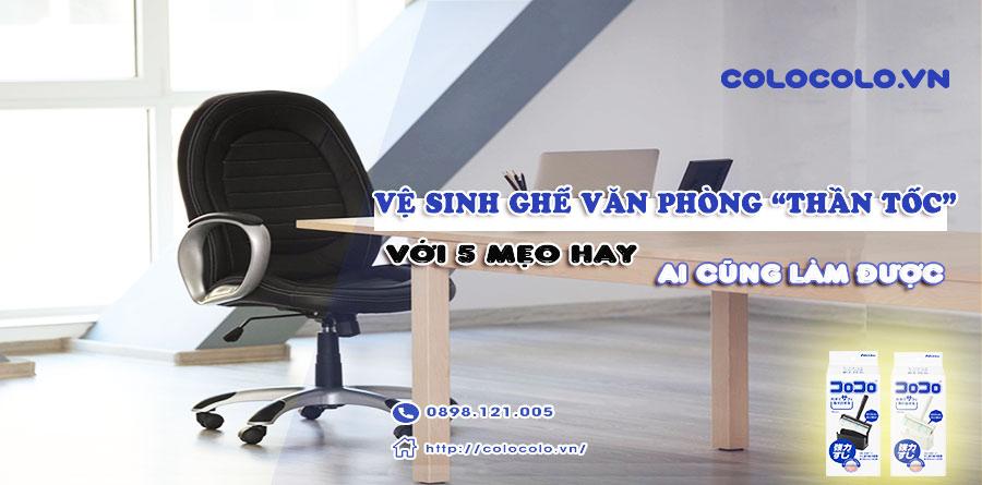 vệ sinh ghế văn phòng