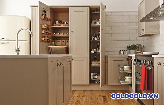bố trí phòng bếp