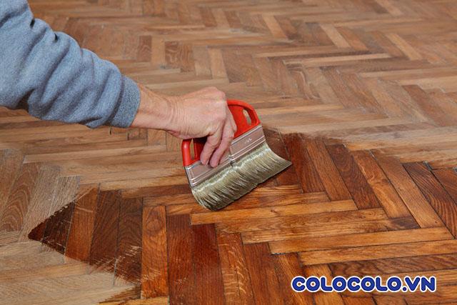 đánh bóng sàn nhà gỗ