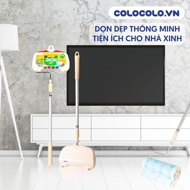 Cây lăn bụi sàn nhà vệ sinh sạch sẽ các loại tóc rụng
