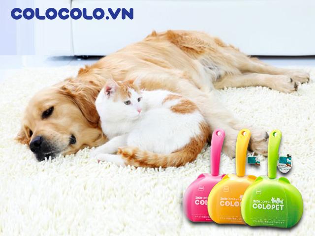 Cách làm sạch lông chó mèo trong nhà bằng cây lăn lông chó mèo tĩnh điện