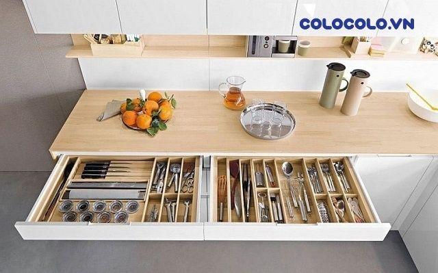 mẹo hay giúp sắp xếp nhà cửa đơn giản là sử dụng tủ ngăn kéo chia ô
