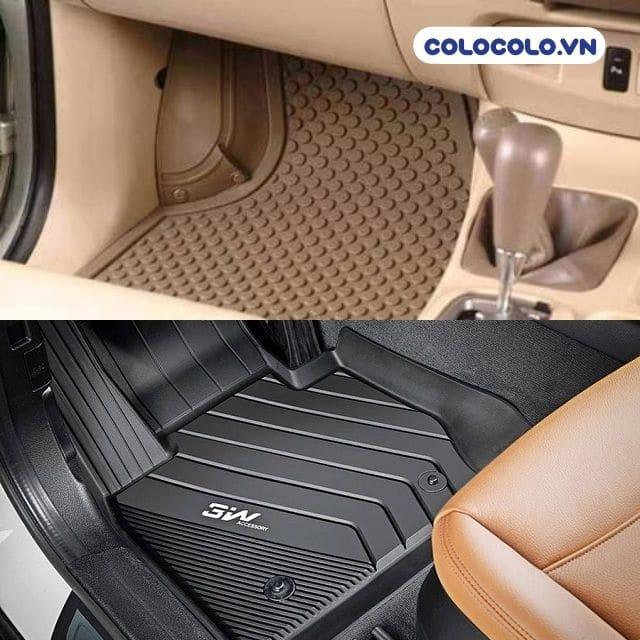 Vệ sinh thảm sàn ô tô từ chất liệu cao su hoặc nhựa đúc