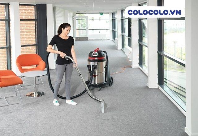 vệ sinh thảm văn phòng bằng máy giặt chuyên dụng